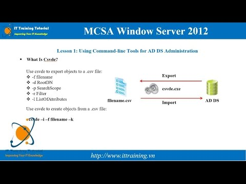 MCSA 2012 Module 4: Automating Active Directory Domain Services
