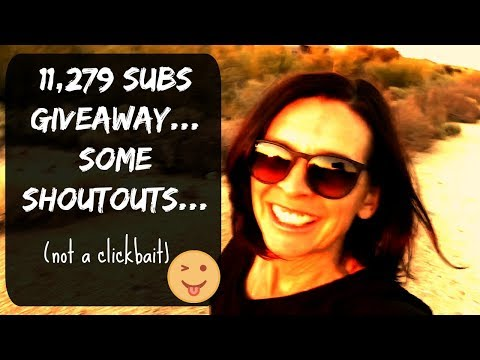 11,280 SUBSCRIBERS THANK YOU, SOME SWEET SHOUTOUTS, GIVEAWAY RULES