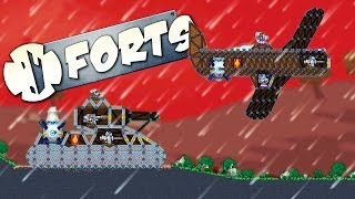 MASSIVE TANKS AND AIRPLANE BATTLES - Forts Multiplayer Gameplay