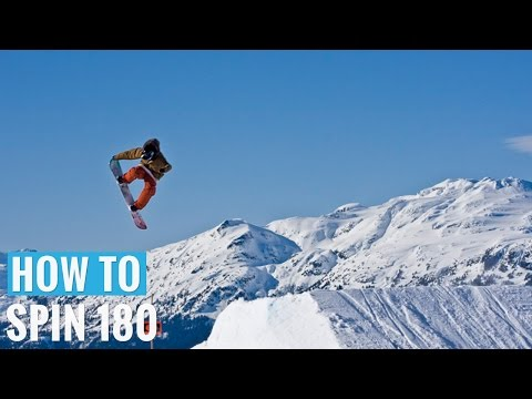 How to 180 Jump on a Snowboard - (Regular) 180 Trick Tip