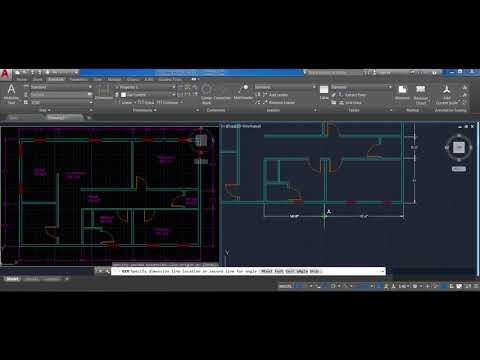 How to draw a floor plan in AutoCAD step by step (Part 8): Dimensions, Scales, Text