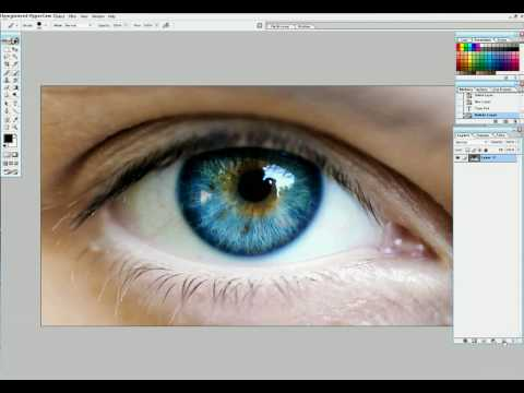 How to edit eye color in Photoshop 7.0