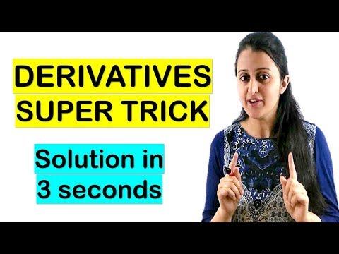 DIFFERENTIATION SHORTCUT//DERIVATIVES TRICK//SOLUTION IN 3 SECONDS