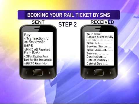 Rail ticket SMS service
