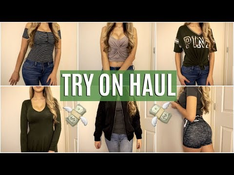 HUGE TRY ON CLOTHING HAUL l Victoria's Secret, Forever 21, Nike, American Eagle
