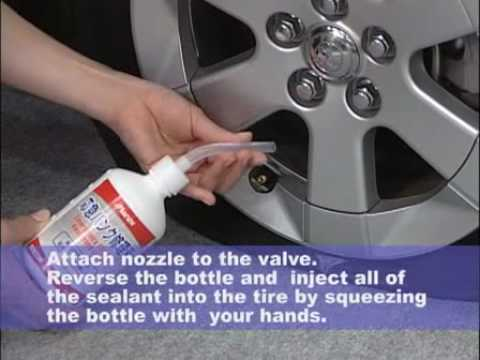 How to repair a flat tire without jack-up, Instruction