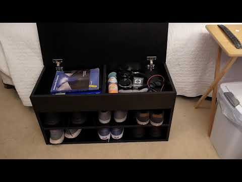 The Shoe Rack Bench - Storage and Seating in one