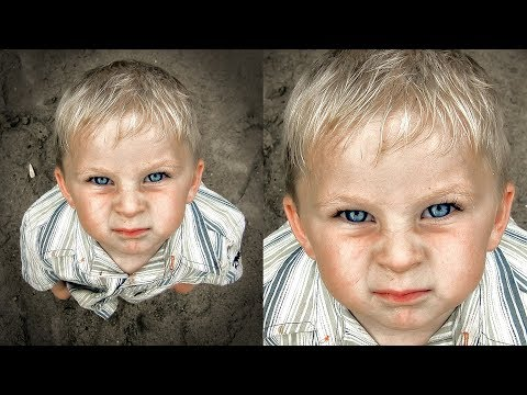 Impactful Look in Photoshop - Intense Portrait Photography Editing - Shot with Fujifilm FinePix E550