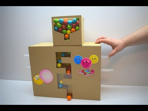 How to Make Gumball Dispenser from Cardboard Candy Dispenser Machine