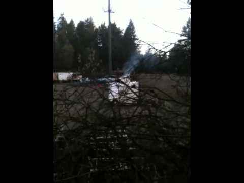 Diesel fumes in backyard