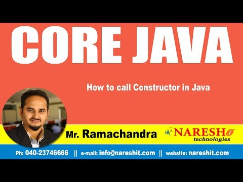 How to call Constructor in Java | Core Java Tutorial