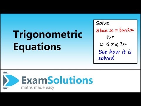 Trigonometry Equations : Double Angle Types (3) : ExamSolutions