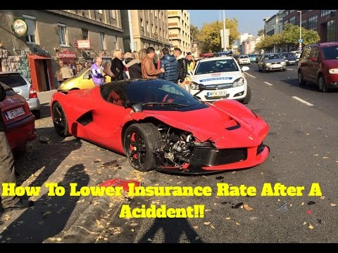 How To Lower Insurance Rate After A Car Accident!
