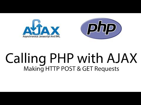 Making HTTP POST and GET request with AJAX to PHP