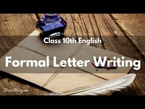 Formal Letter Writing | CBSE Class 10 | English | Video Lecture in HIndi