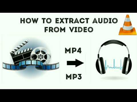 How to extract Audio from Video using Vlc media player| MP4 - MP3