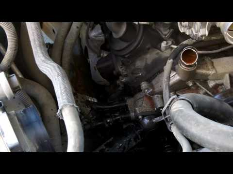 Gmc Sierra  or chevy silverado  loosing coolant at slow rate and can't find it  = water pump gasket