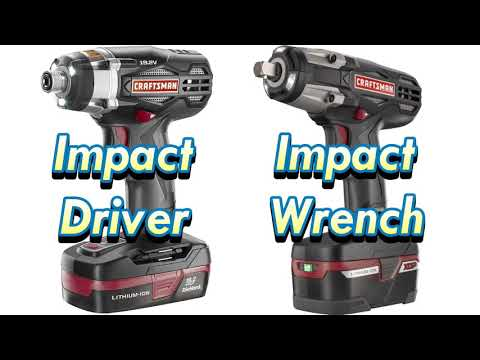 Difference between IMPACT DRIVER and IMPACT WRENCH
