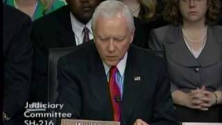 Senator Orrin Hatch Questions Judge Sonia Sotomayor
