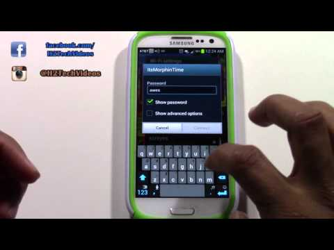 Galaxy S3 - How to Connect to Wifi​​​ | H2TechVideos​​​