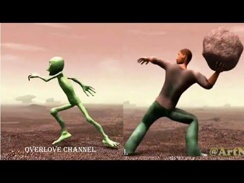 Dame tu cosita funny alien dancing new viral video | Full video of new viral alien dancing video
