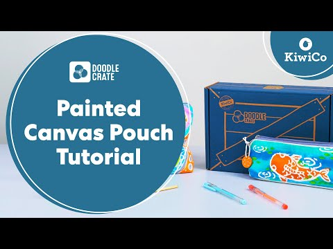 Painted Canvas Pouches Tutorial - Doodle Crate Project Tutorial