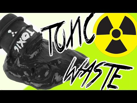 DIY | Toxic Waste Slime - HOW TO MAKE BLACK SLIME!!!