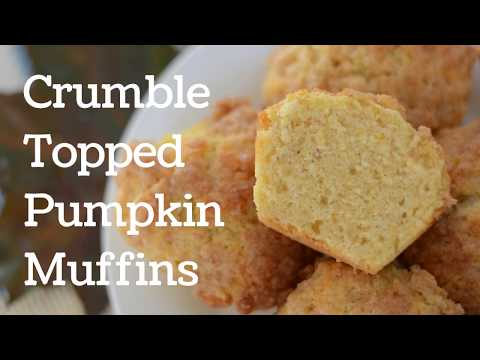 Crumble Topped Pumpkin Muffins