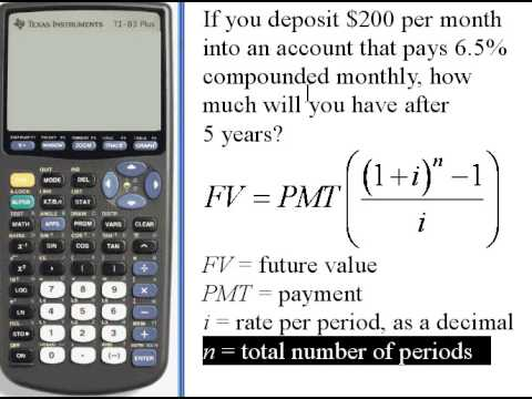 Calculating Future Value of an Annuity - TI-83/84  141.33