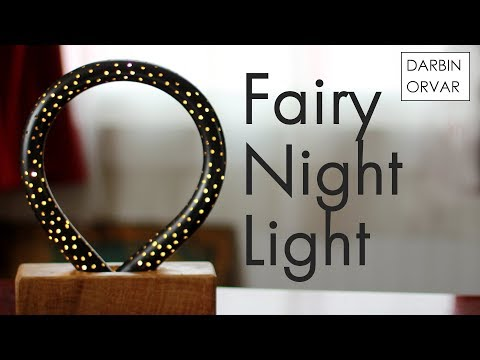 PVC Night Light w/ Wood & Fairy Lights