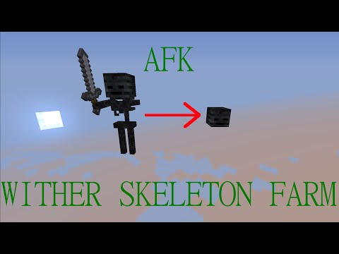 AFK Wither Skeleton Farm Tutorial for Minecraft 1.8