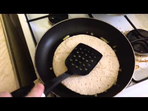 Making Cheese 'n Garlic Quesadilla