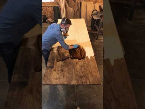 Staining a 9.5 ft Farmhouse Table Top