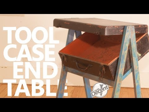 UPCYCLED TOOL CASE END TABLE - a Decent project