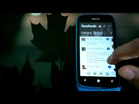 Facebook for Windows Phone on Nokia Lumia 610