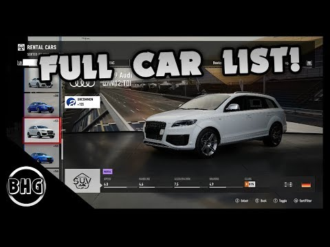 Forza Motorsport 7 | FULL CAR LIST (+DLC AND FORZA EDITIONS)