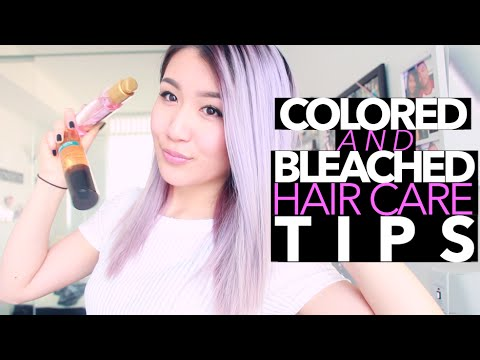 How To Take Care of Colored/Bleached Hair