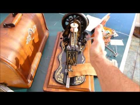 Sewalot Presents the Singer fiddle base hand crank of 1887 demonstrated by Alex Askaroff