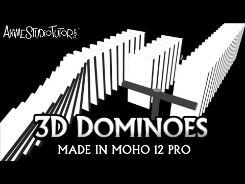 Animated 3D Domioes  made in Moho