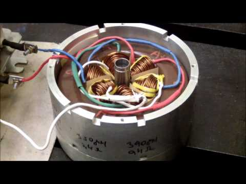 High-Speed Permanent Magnet Synchronous Machine - 100 000 RPM - first test