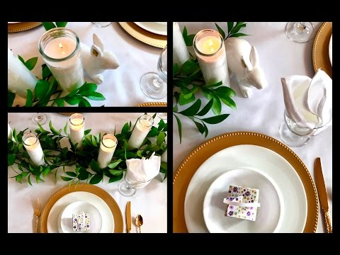 Easy Budget Friendly Easter Dinner Tablescape