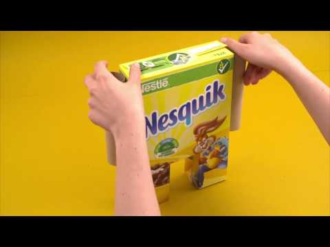 How to make a Robot out of a cereal box! | NESQUIK Cereals
