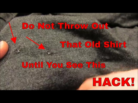 DIY - Easy Repair of a Hole in a Shirt