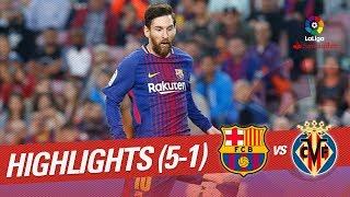 Resumen de FC Barcelona vs Villarreal CF (5-1)