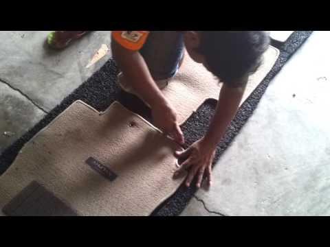 Cutting PVC Coilmat According To Original Car Mat Shape