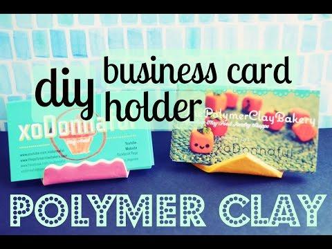 DIY: PolymerClay Business Card Holder