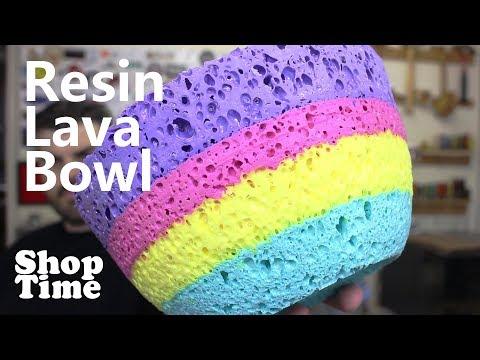Resin Lava Bowl