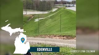 Michigan dam failure caught on video
