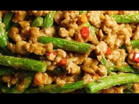 Szechwan Spicy Green Bean and Ground Pork in Broad Bean Sauce
