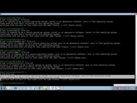Unix shell scripting sed repeated pattern tagged expression part 2